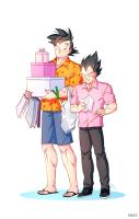 Goku and Vegeta Shopping together
