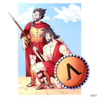 Goku and Vegeta as Spartans