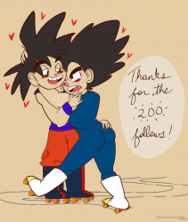 Happy 200 followers (Vegeta x Goku)